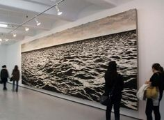 amazing, this piece of art is made entirely of fish hooks!