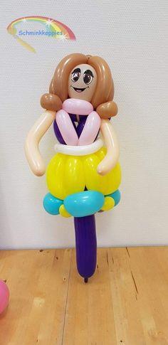 Ballonfiguur Prinses  Schminkkoppies Mariëlle Heuft