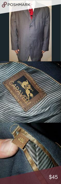 Caravelli Men's 3 button Suit Jacket/Sports Coat Caravelli Men's 3 button Suit Jacket/Sports Coat Gray  48L Pre owned  Good condition Caravelli  Suits & Blazers Sport Coats & Blazers