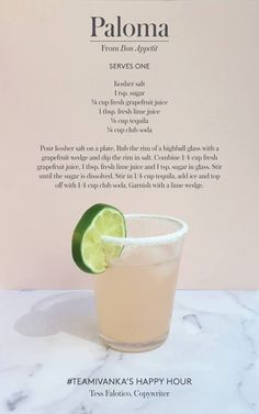 The yummiest low calorie skinny cocktail recipes for when you need alcohol! All under 100 Calories. Low Calorie Cocktails under 100 Calories. Fancy Drinks, Cocktail Drinks, Yummy Drinks, Paloma Cocktail, Simple Tequila Drinks, Tequilla Cocktails, Low Calorie Tequila Drinks, Bacardi Drinks, Drink Recipes