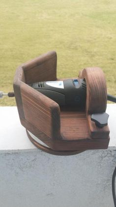 Homemade Dremel Stand...do this with a real router to make a DIY Festool Domino mortise machine