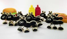 April 23 is Picnic Day.  I like burgers and hot dogs, but you might like sushi or wine, bread, and cheese!  Everyone will love these Standing   Ant Cookies.  Click for a thorough tutorial.