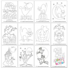 Fun Halloween Coloring Pages for Kids - Free Printable