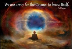 We are a way for the Cosmos to know itself ♥