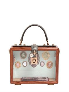 DOLCE & GABBANA - DOLL HOUSE DOLCE BAG IN MAHOGANY & AYERS - LUISAVIAROMA - LUXURY SHOPPING WORLDWIDE SHIPPING - FLORENCE