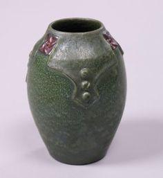 Ephraim Faience Matte Green Vase