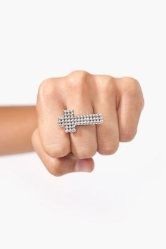 Studded Cross Ring