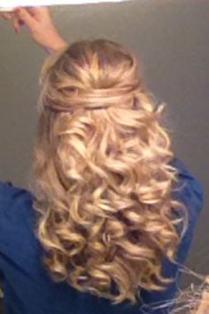 New Year's Eve hair!  So easy!
