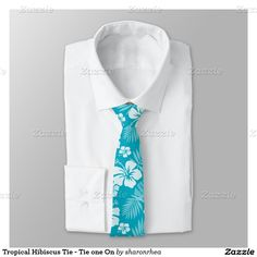Tropical Hibiscus Tie - Tie one On - http://www.zazzle.com/tropical_hibiscus_tie_tie_one_on-256220946241839322