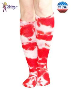 7bb47c62976 Red Tie Dye Knee Socks Tie Dye Socks