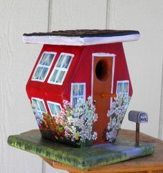 EcoFriendly Outdoor Birdhouse Handcrafted by BirdhouseBlessings