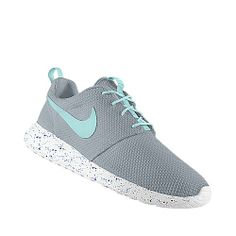 Blue and gray Roshe runs
