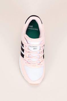 new arrival 22ae0 996c9 Sneakers multi-matières avec empiècements nubuck rose pâle noir blanc EQT  Support RF