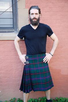 The Davidson Tartan Kilt is a subtle and handsome tartan that features soothing natural colors, making for a tartan that is perfect for everyday wear. This tartan features forest green colors that are offset by navy blue squares arranged into thick lines.  #DavidsonTartanKilt #DavidsonTartan #buykiltoutfit #KiltsForSale #TartanKiltsForSale
