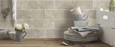 Hudson Cream Wall Tile - gorgeous colour and pattern Brick Style Tiles, Brick Tiles, Wall Tiles, Cream Walls, Kitchen Countertops, Industrial Style, Bathroom, Kitchen Ideas, Mountain