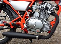 Reverse Cone silencer and exhaust wrap on Ace special from http://www.f2motorcycles.ltd.uk/