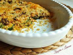 crumble di zucchine | ricetta contorno | Zenzero e Limone Macaroni And Cheese, Appetizers, Ethnic Recipes, Contouring, Oven, Cook, Cakes, Gastronomia, Mac And Cheese