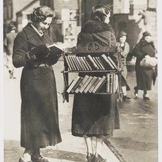 A walking library.. It worked then would it work now? #library #instaread #bookclub #books