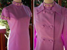 Soft LILAC 1960's 70's Vintage Light Purple Dress by Jewels4pandas, $119.99