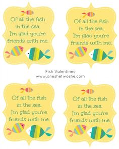 'Of All the Fish in the Sea...' Valentines Printable - Or so she says...