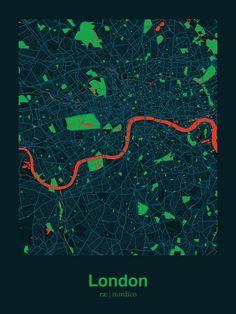 London, England Map Print