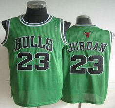 Chicago Bulls Jersey #23 Michael Jordan Green Revolution 30 Authentic Jerseys