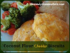 Coconut Flour Cheddar Drop Biscuits | Heavenly Homemakers #lowcarb shared on https://facebook.com/lowcarbzen