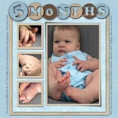 scrapbook ideas for baby each month - Google Search