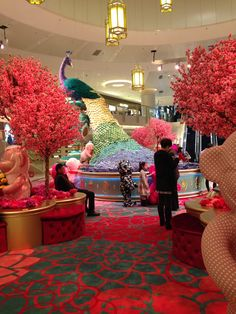Chinese New Year Display in a mall in Hong Kong February 2016