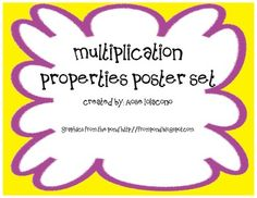 Multiplication Property Posters