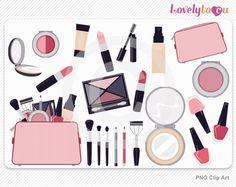 Make-up clip art set from Lovelytocu