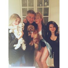 Alec Baldwin and his 2 dogs.daughter, niece, and wife Stephen Baldwin, Alec Baldwin, Ireland Baldwin, Kim Basinger, Instagram Blog, Famous People, Photoshoot, Puppies, Couple Photos