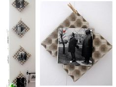 reuse chicken egg trays for your pictures/photos