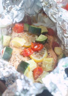 Grilled Lemon Pepper Salmon Packets