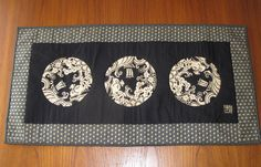 #Treasure_Ship #Shochikubai Design Japanese Quilted Table Runner by JapanesqueAccents, $75.00