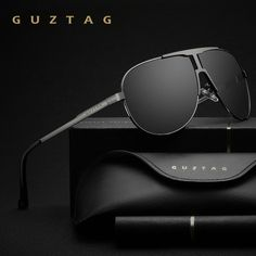 8d3425a706 GUZTAG Brand Fashion Classic Polarized Sunglasses Men s Designer HD Goggle  Integrated Eyewear Sun glasses UV400 For