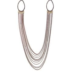 Crystal Pavé Links + Chain Necklace on SALE right now for $29.00 originally priced at $118.00. www.chloeandisable.com/boutique/denisebrenes