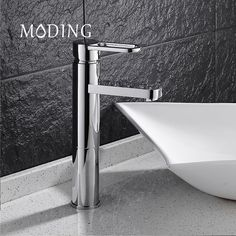MODING Modern Style Free Shipping Basin Faucet Cold and Hot Water Mixer Single Handle #MD1A9006A #Affiliate
