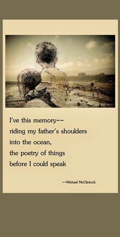 Tanka poem: I've this memory -- by Michael McClintock.