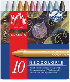 Limited Edition Holiday Set of 10 NEW! — Caran d'ache neocolor II metallic colors