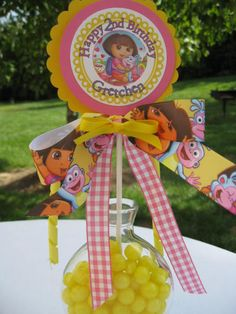 DORA the Explorer and BOOTS deluxe party by Cupcakeqtscelebrate