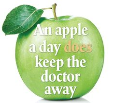 I am going to use this as a bible to live by. Starting with two apples a day.