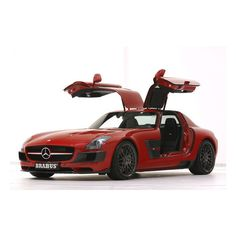 The Brabus Mercedes-Benz SLS Widestar custom-tailored to your taste ❤ liked on Polyvore featuring cars