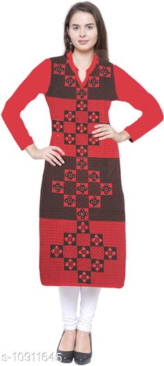 Checkout this latest Kurtis Product Name: *Women Stylish Winter Kurti* Fabric: Wool Sleeve Length: Three-Quarter Sleeves Pattern: Printed Combo of: Single Sizes: XL (Bust Size: 42 in, Size Length: 41 in)  Country of Origin: India Easy Returns Available In Case Of Any Issue   Catalog Rating: ★4.3 (220)  Catalog Name: Aishani Sensational Woolen Kurtis CatalogID_2016770 C74-SC1001 Code: 334-10911645-3111