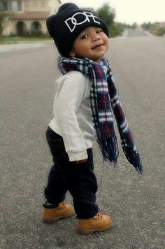 the CoOl Kids - Dope hat baby boy swag designer kid cool kid fashion baby swag So Cute Baby, Cute Kids, Cute Babies, Cute Black Baby Boys, Fashion Kids, Baby Boy Fashion, Toddler Fashion, Swag Fashion, Trendy Fashion