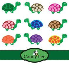 Cute Turtles digital clipart Buy 1 get 1 Free by CandyBeeDesigns