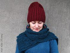 "Шапка та рукавиці ""Теплий бургунді"" / Hat and mittens Warm Burgundians | Life Like Knitting."