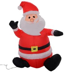 4Ft Airblown Inflatable Christmas Xmas Santa Claus Decoration Lawn Yard Outdoor