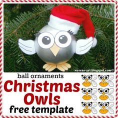 Christmas Owls   free template