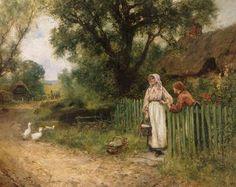 Henry John Yeend King - By a Cottage Gate